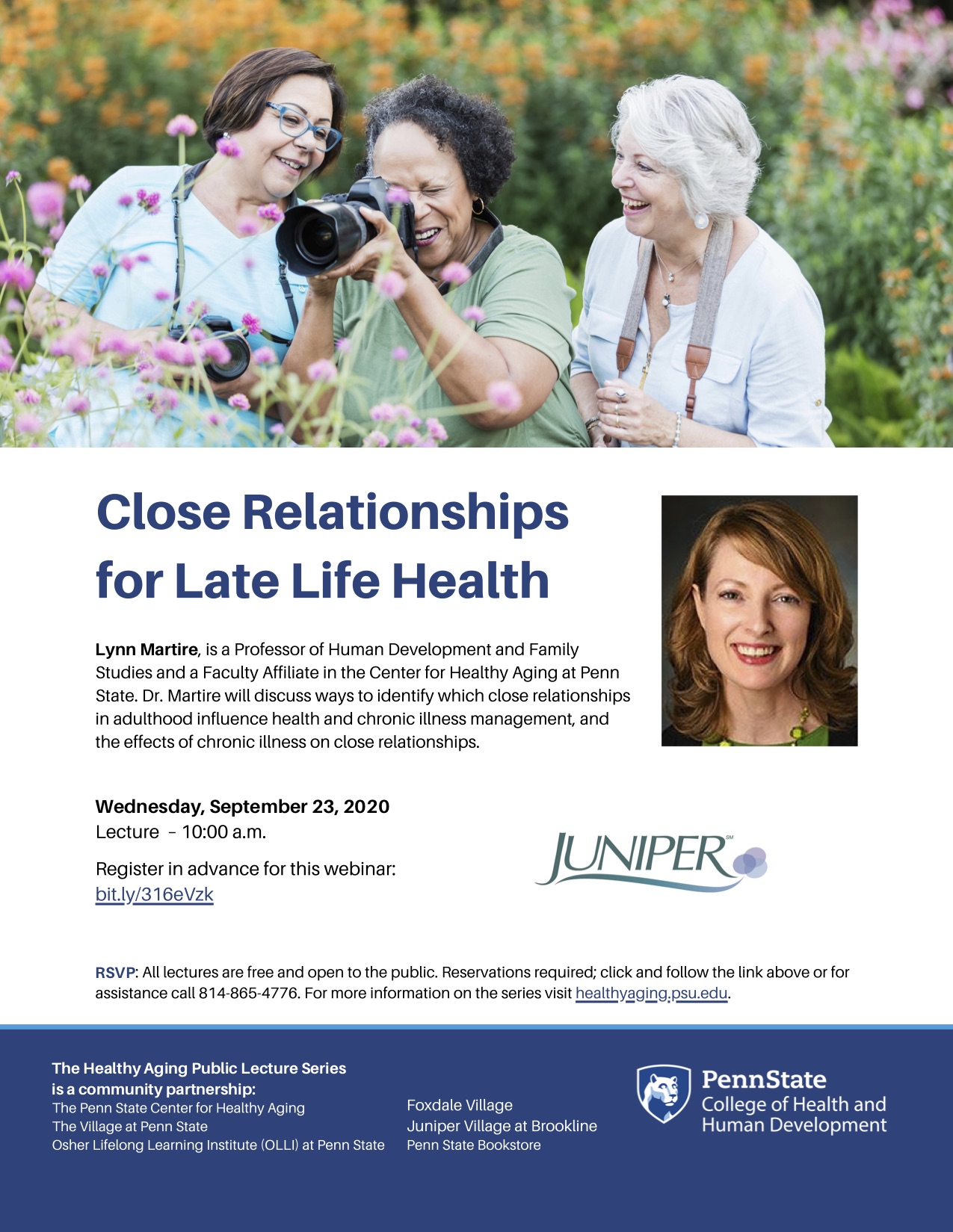 Close Relationships for Late Life Health Flyer.
